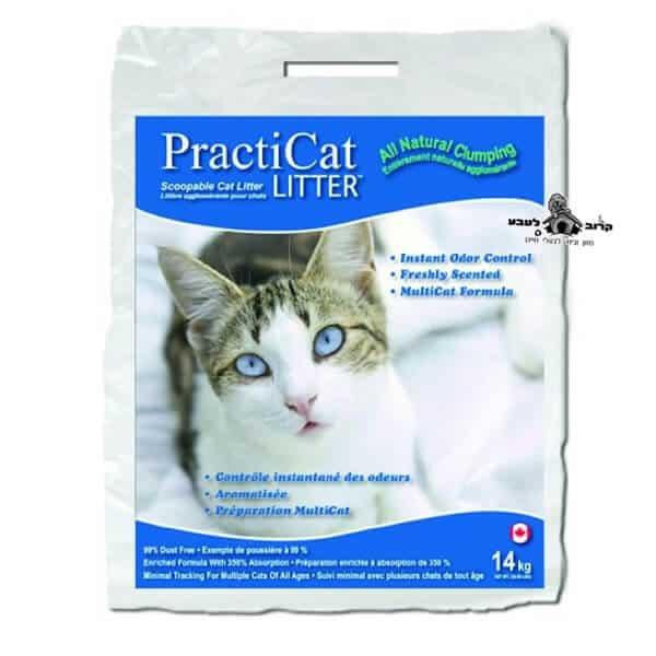 """פרקטיקט חול מתגבש לחתולים 14 ק""""ג"""