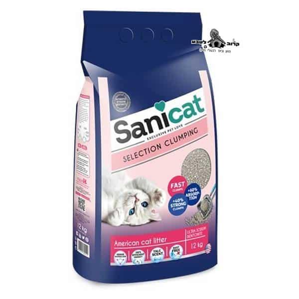 """חול לחתולים סאניקט מתגבש ריחני 16 ק""""ג"""