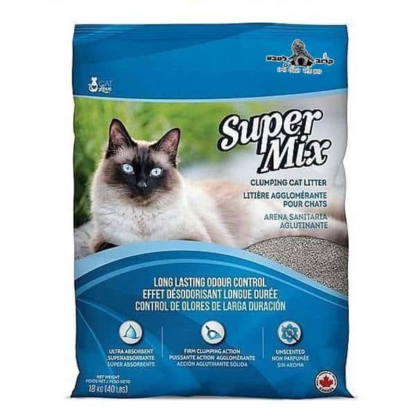 """חול לחתולים סופר מיקס 18 ק""""ג"""
