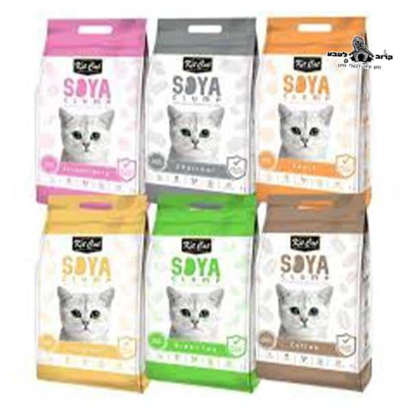 חול לחתולים סויה במגוון ריחות 7 ליטר