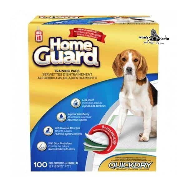 פדים לצרכי כלבים 100 יחידות HOME GUARD