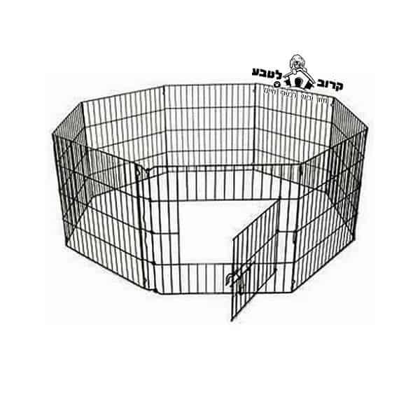 """גדר גורים / גדר אילוף כלב גדול 122 ס""""מ"""