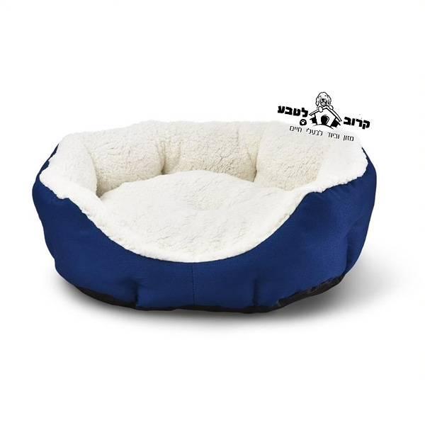 מיטה לכלב בצבע כחול קליקו מהודרת מידה L